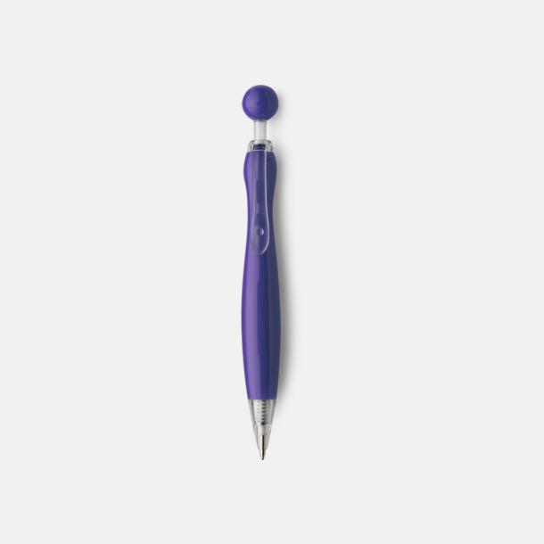Lila/Transparent Billiga bläckpennor i unik design med reklamtryck