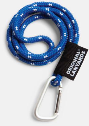 Blå / Vit Konserver med nyckelband - en klassisk profilprodukt på ett nytt sätt