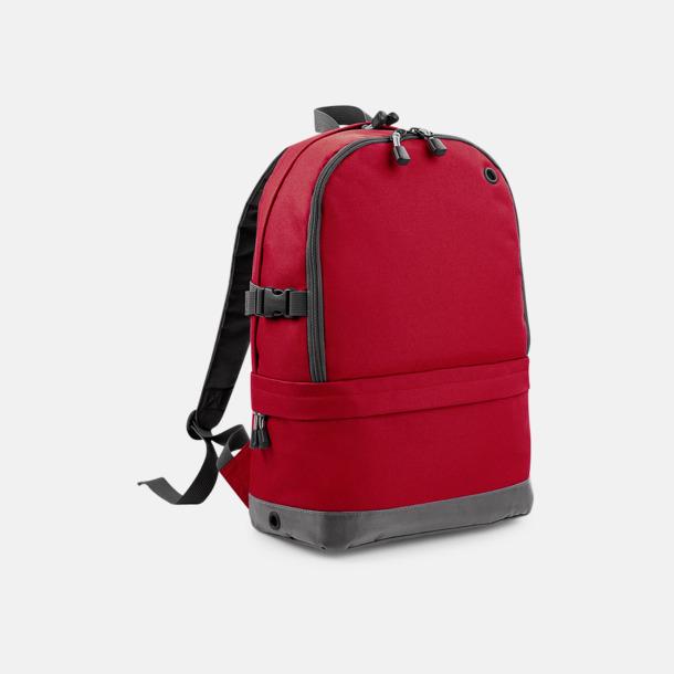Classic Red Ryggsäckar med dubbelfack - med reklambrodyr