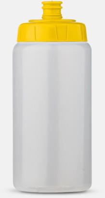 Transparent/Gul (50 cl) Kompakta vattenflaskor i 2 storlekar med reklamtryck
