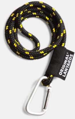 Svart / Gul Konserver med nyckelband - en klassisk profilprodukt på ett nytt sätt