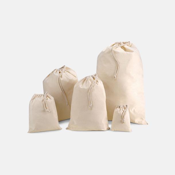 Bomullspåsar i flera storlekar - med tryck