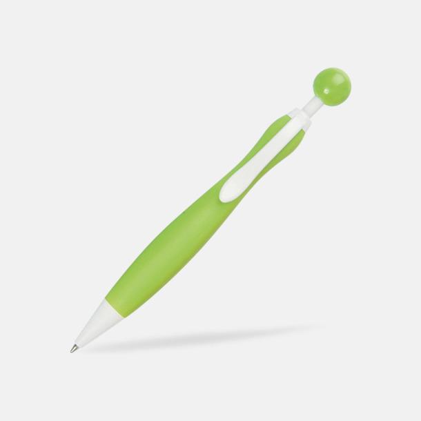 Limegrön/Vit Billiga bläckpennor i unik design med reklamtryck