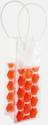 Röd Påsar med kylpaneler för flaskor