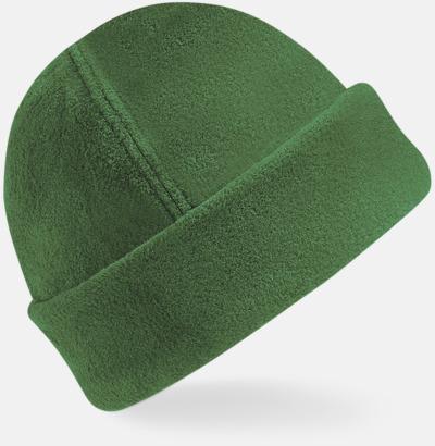 Forest Green Tjocka fleecemössor med reklambrodyr