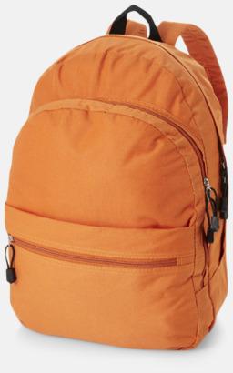 Orange Trendigt designade ryggsäckar med tryck