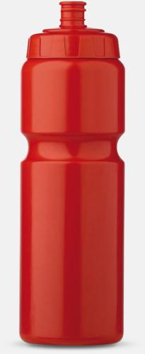 Röd (75 cl) Kompakta vattenflaskor i 2 storlekar med reklamtryck