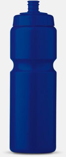 Blå (75 cl) Kompakta vattenflaskor i 2 storlekar med reklamtryck