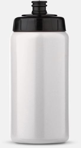 Vit/Svart (50 cl) Kompakta vattenflaskor i 2 storlekar med reklamtryck