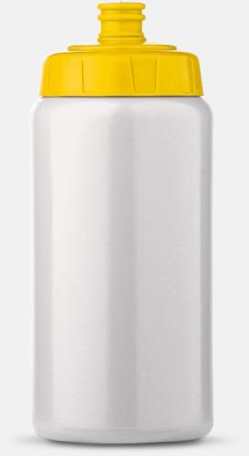 Vit/Gul (50 cl) Kompakta vattenflaskor i 2 storlekar med reklamtryck