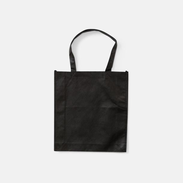 Svart Trendiga shoppingbagar i non woven - med tryck