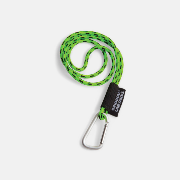 Limegrön / Svart Konserver med nyckelband - en klassisk profilprodukt på ett nytt sätt