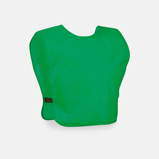 Grön Lagvästar för barn med reklamtryck