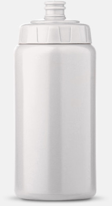 Vit (50 cl) Kompakta vattenflaskor i 2 storlekar med reklamtryck