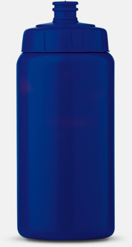 Blå (50 cl) Kompakta vattenflaskor i 2 storlekar med reklamtryck