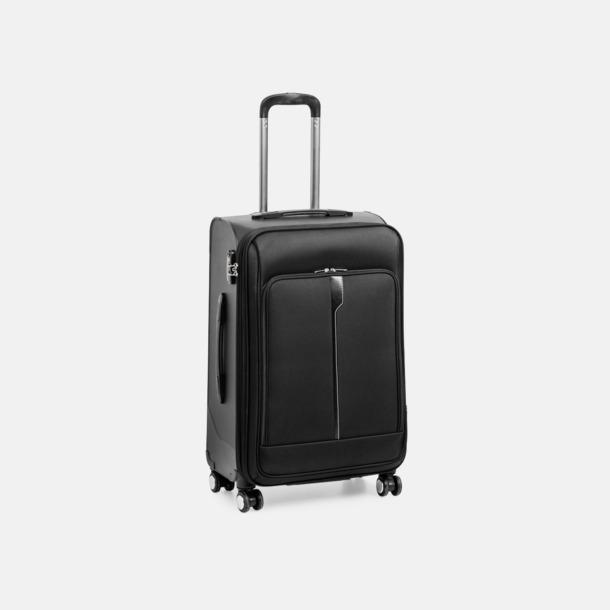 """Svart (resväska 24"""") Trolleyväskor i 4 storlekar med reklamtryck"""