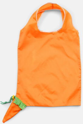 Orange (morot) Fruktformade nylonkassar med reklamtryck