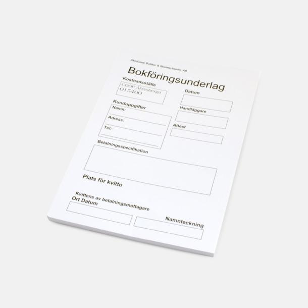 1-färgstryck Konferensblock i A6-format med reklamtryck