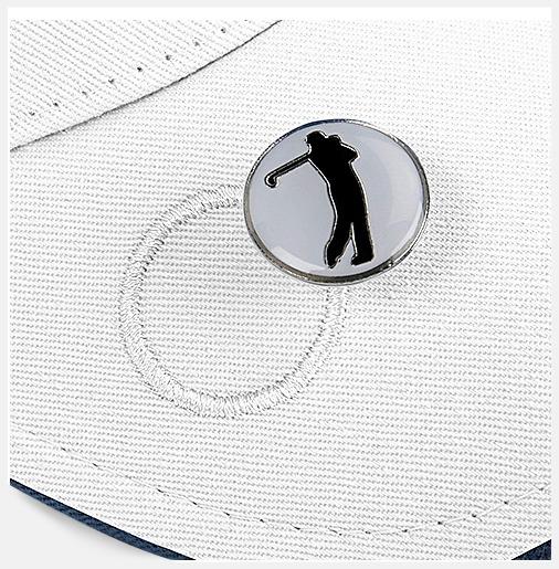 Golfkepsar i ball mark-modell - med tryck