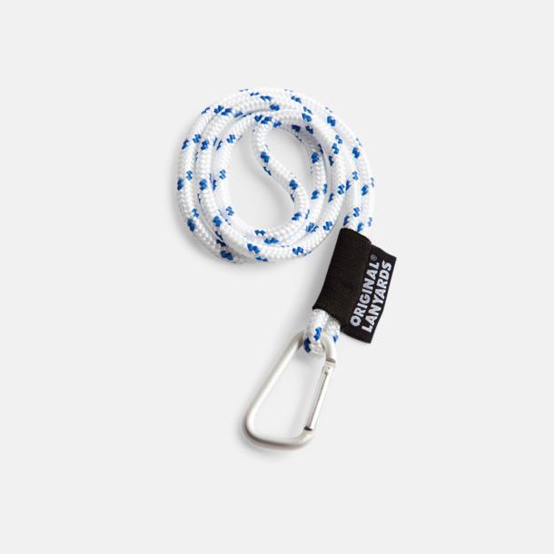 Vit / Blå Konserver med nyckelband - en klassisk profilprodukt på ett nytt sätt
