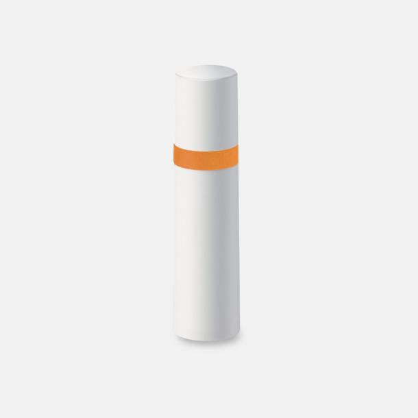 Vit / Orange Pumpsprej med olika innehåll med reklamtryck