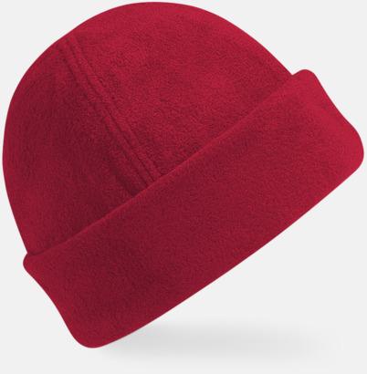 Classic Red Tjocka fleecemössor med reklambrodyr