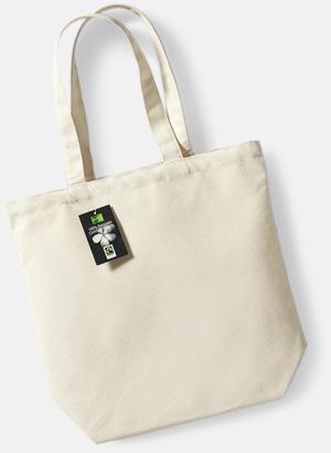 Natur Exklusiva tygpåsar av Fairtrade-certifierad bomull - med reklamtryck