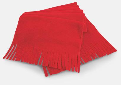 Röd Halsdukar med fransar - med reklambrodyr