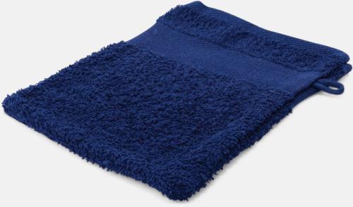 Marinblå Småhanddukar i många färger med brodyr