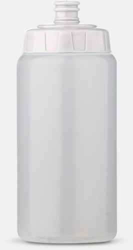 Transparent/Vit (50 cl) Kompakta vattenflaskor i 2 storlekar med reklamtryck