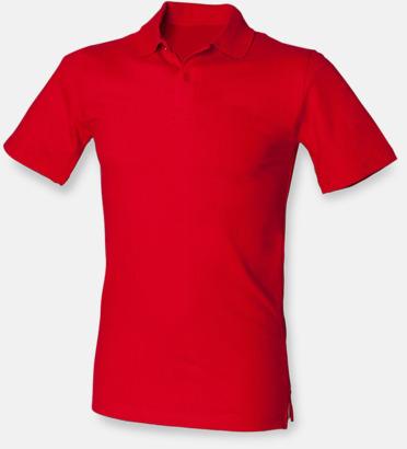 Classic Red (herr) Stretchiga pikéer i herr- och dammodell med reklamtryck