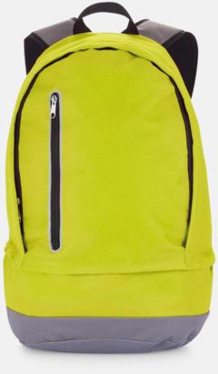 Limegrön/Grå Kontrastfärgade ryggsäckar med reklamtryck