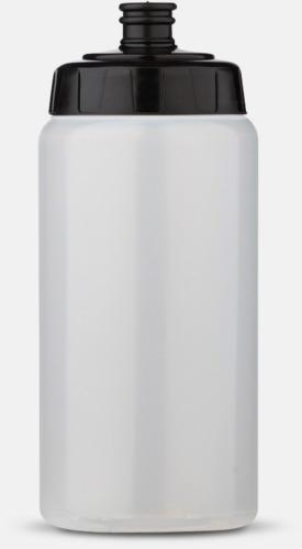 Transparent/Svart (50 cl) Kompakta vattenflaskor i 2 storlekar med reklamtryck