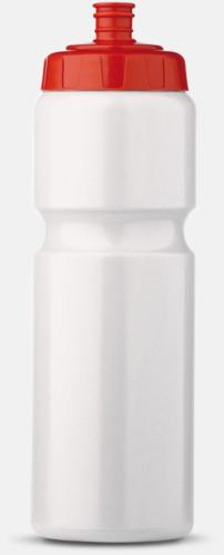 Vit/Röd (75 cl) Kompakta vattenflaskor i 2 storlekar med reklamtryck
