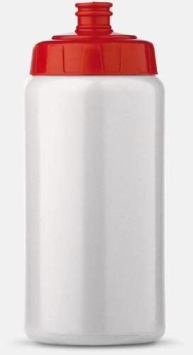 Vit/Röd (50 cl) Kompakta vattenflaskor i 2 storlekar med reklamtryck