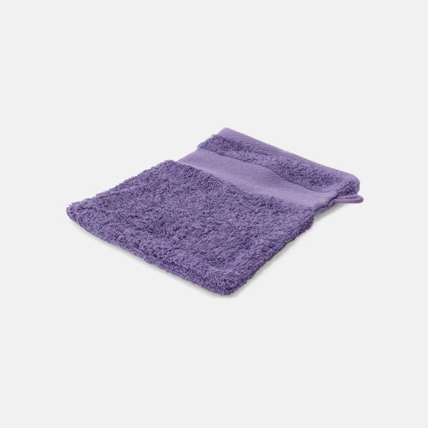 Light Violet Småhanddukar i många färger med brodyr