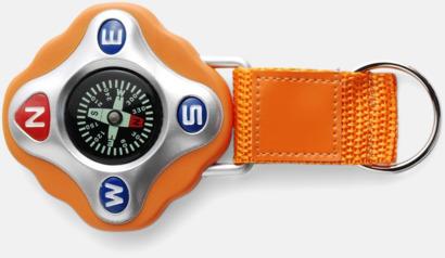 Orange Kompass med rem och nyckelring - med reklamtryck