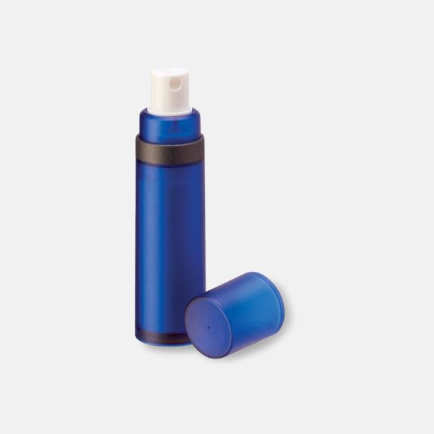 Blå Pumpsprej med olika innehåll med reklamtryck