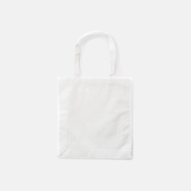 Vit Trendiga shoppingbagar i non woven - med tryck