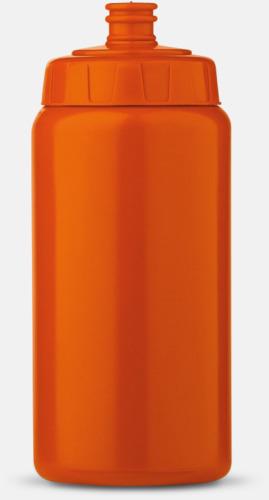 Orange (50 cl) Kompakta vattenflaskor i 2 storlekar med reklamtryck