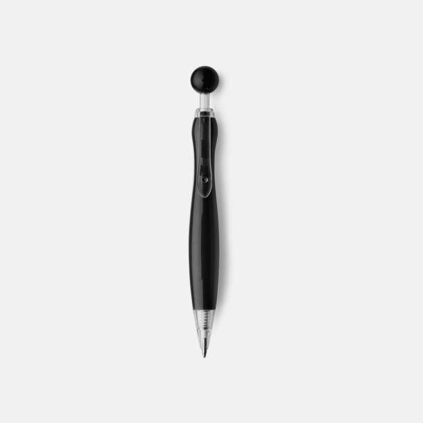 Svart/Transparent Billiga bläckpennor i unik design med reklamtryck