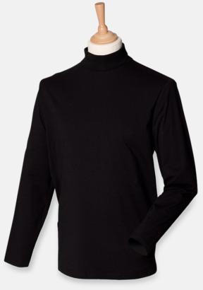 Svart  Långärmade t-shirts i herrmodell