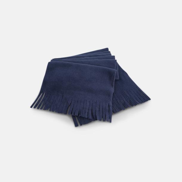Marinblå Halsdukar med fransar - med reklambrodyr