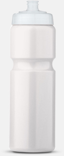 Vit/Transparent (75 cl) Kompakta vattenflaskor i 2 storlekar med reklamtryck
