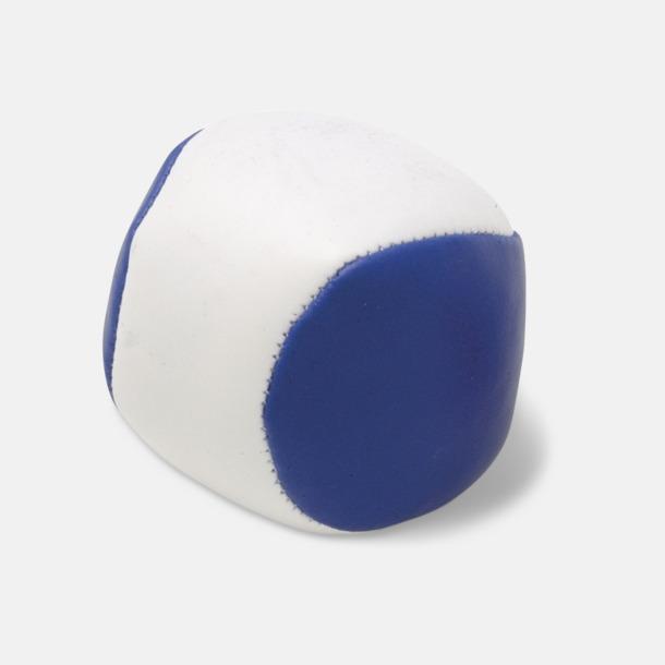 Blå / Vit Billiga jongleringsbollar med reklamtryck