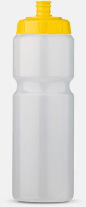 Transparent/Gul (75 cl) Kompakta vattenflaskor i 2 storlekar med reklamtryck