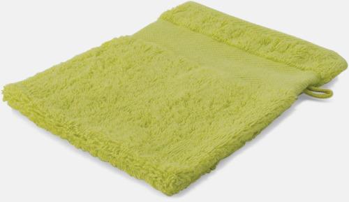 Ljusgrön Småhanddukar i många färger med brodyr