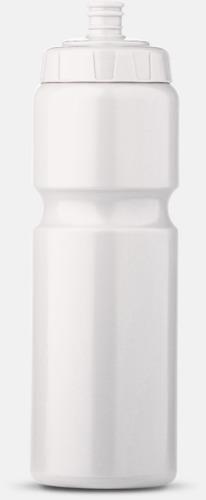 Vit (75 cl) Kompakta vattenflaskor i 2 storlekar med reklamtryck