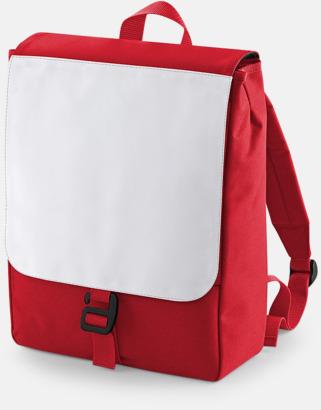 Classic Red Mindre ryggsäckar för barn med eget sublimationstryck