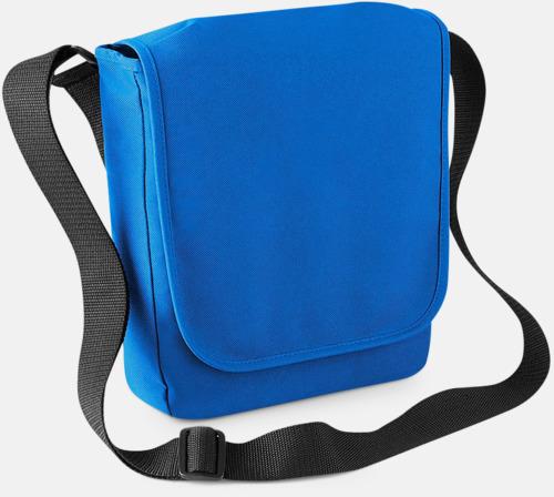 Sapphire Blue Axelväska med surfplattefack - med reklamtryck